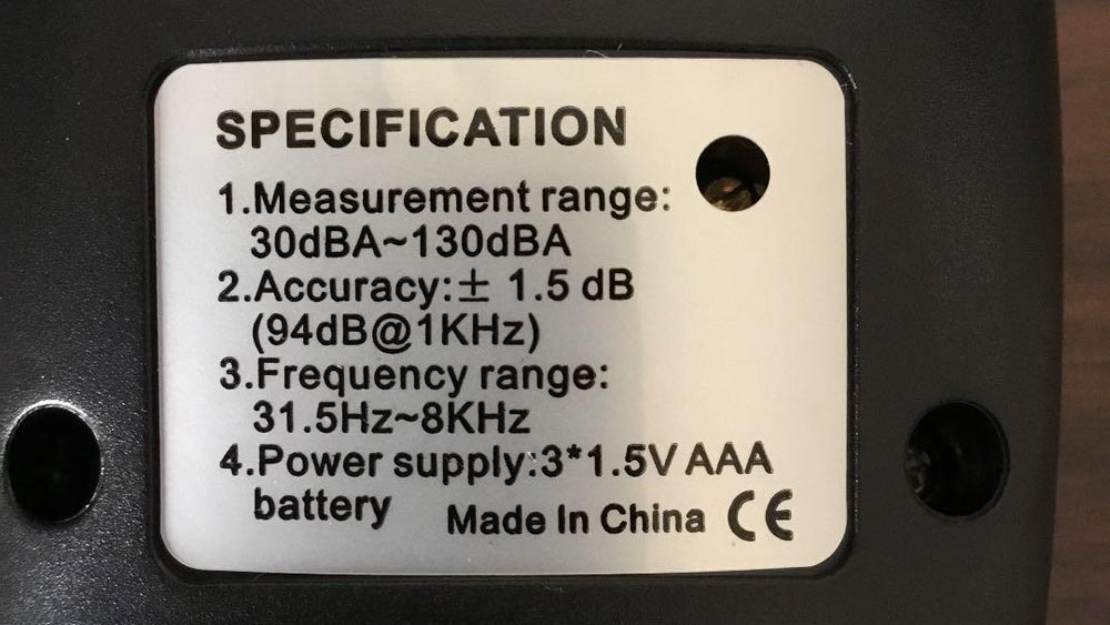 Sonomètre Meterk MK09